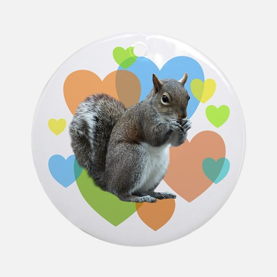 Squirrel Hearts Ornament (Round)