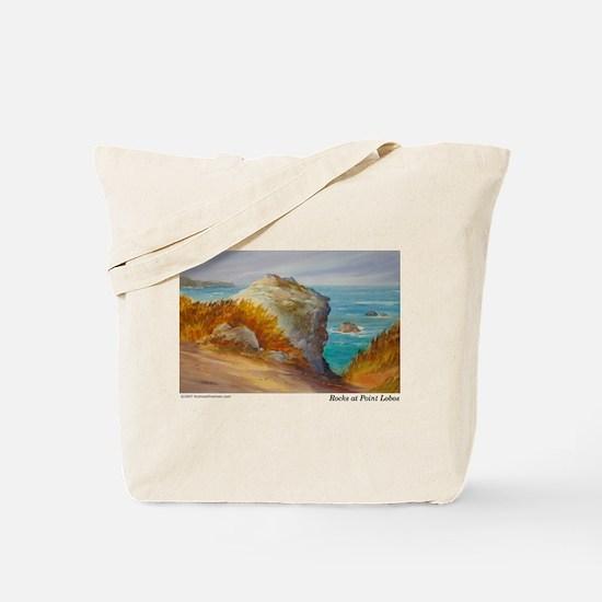 Rocks at Point Lobos Tote Bag