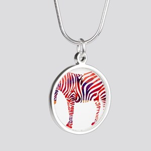 Mosaic Polygon Zebra Reds Blues Necklaces