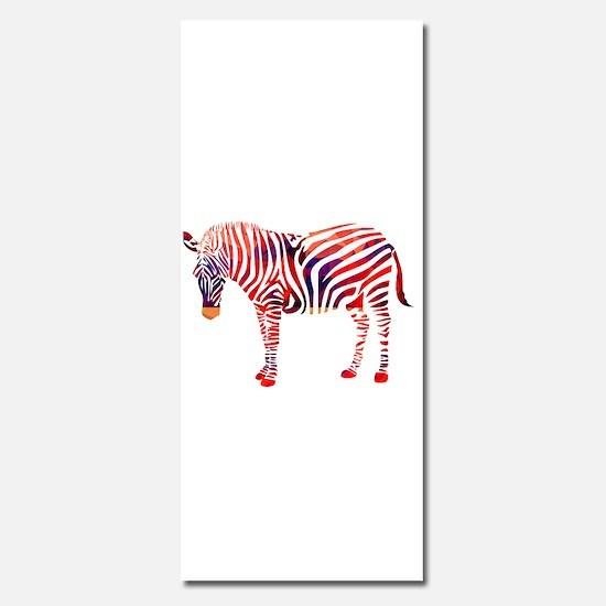 Mosaic Polygon Zebra Reds Blues Invitations
