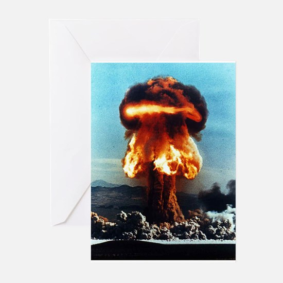 Nuclear Bomb Mushroom Cloud Greeting Cards (Packag