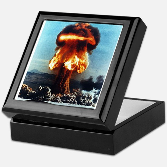 Nuclear Bomb Mushroom Cloud Keepsake Box