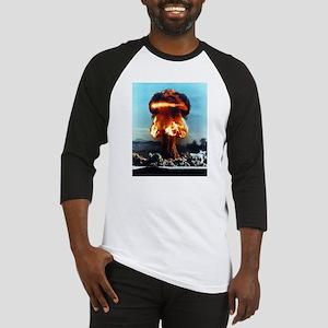 Nuclear Bomb Mushroom Cloud Baseball Jersey