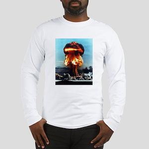 Nuclear Bomb Mushroom Cloud Long Sleeve T-Shirt