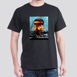Nuclear Bomb Mushroom Cloud Dark T-Shirt