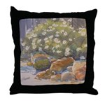 Corner of the Garden Throw Pillow