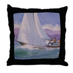 Tacking to Port Throw Pillow