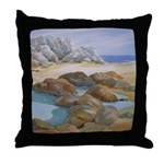 Rocks and Tide Pool Throw Pillow
