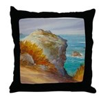 Rocks at Point Lobos Throw Pillow