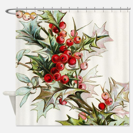 Cute Holly Shower Curtain