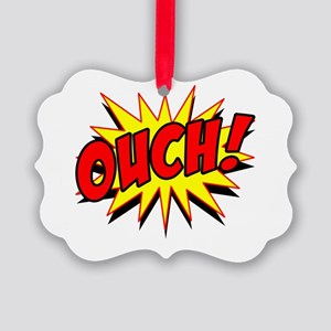 Bangs_Ouch Picture Ornament