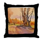 One October Morn Throw Pillow