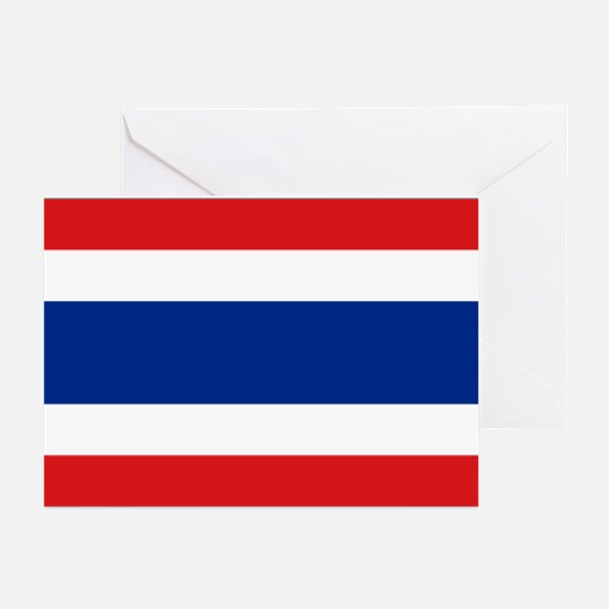 Flag Thailand Greeting Cards (Pk of 10)
