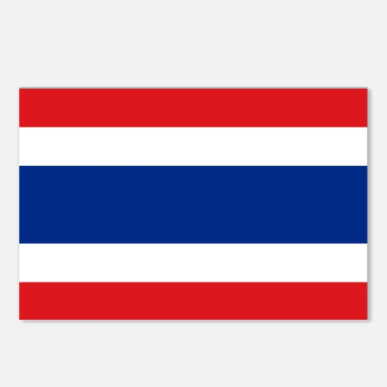 Flag Thailand Postcards (Package of 8)