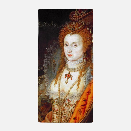 Queen Elizabeth I Beach Towel