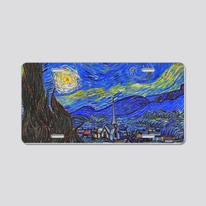 van Gogh: The Starry Night Aluminum License Plate