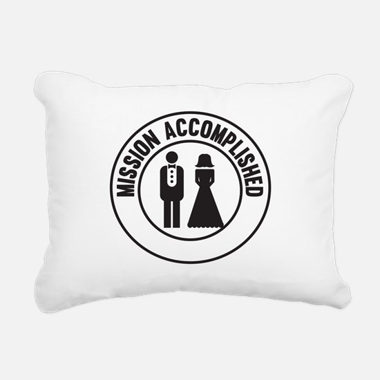 Mission Accomplished Rectangular Canvas Pillow