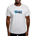 Flights From Hell Gray, Blue, & Natural T-Shir