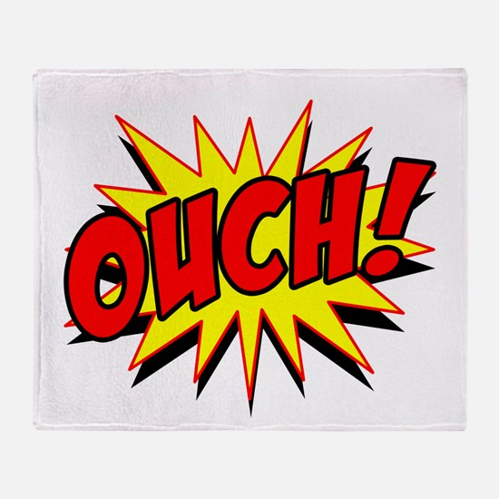Ouch! Throw Blanket