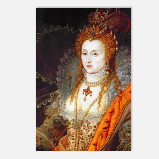 Queen Elizabeth I Postcards (Package of 8)