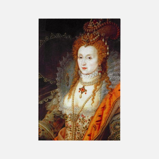 Queen Elizabeth I Rectangle Magnet