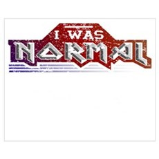 I Was Normal Until I Started Playing Pick Wall Art Framed Print