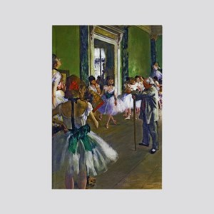 Degas - The Ballet Class Rectangle Magnet