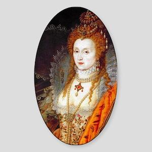Queen Elizabeth I Sticker (Oval)