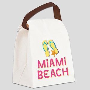 miami beach Canvas Lunch Bag
