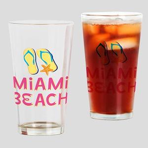 miami beach Drinking Glass