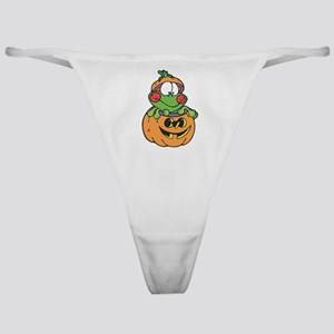 Silly Froggy in Pumpkin Classic Thong