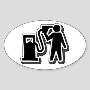 GAS KILLS Oval Sticker