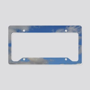 Blue and White License Plate Holder