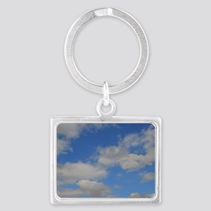Blue and White Landscape Keychain