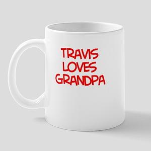 Travis Loves Grandpa Mug