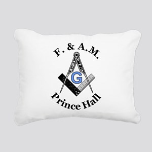 Masonic Square and Compa Rectangular Canvas Pillow