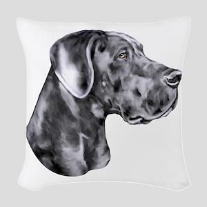 Great Dane HS Blue UC Woven Throw Pillow