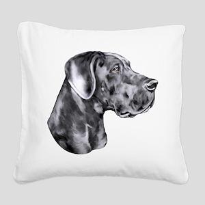 Great Dane HS Blue UC Square Canvas Pillow