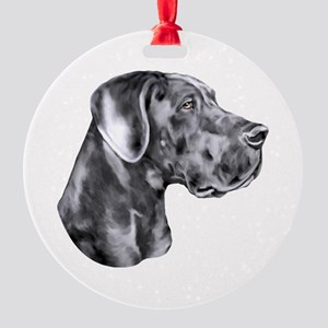 Great Dane HS Blue UC Round Ornament