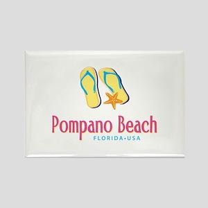 Pompano Beach - Rectangle Magnet
