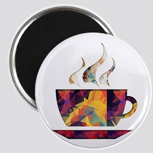 Colorful Cup of Coffee copy Magnets