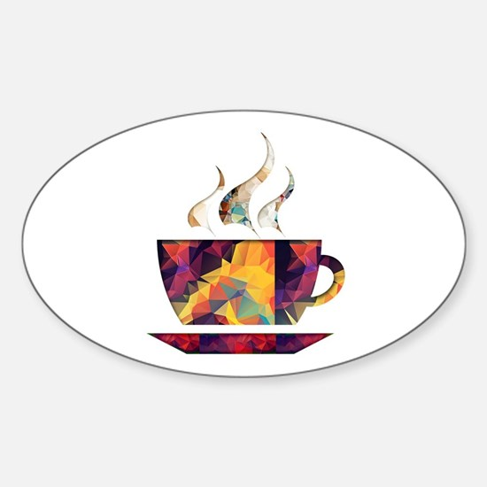 Colorful Cup of Coffee copy Bumper Stickers