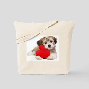 Lover Valentine Havanese Puppy Tote Bag