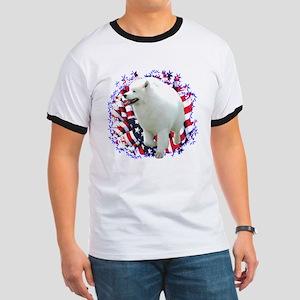 Samoyed Patriotic Ringer T