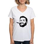 Che Guevara Stencil Women's V-Neck T-Shirt