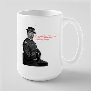 General Sheridan Hell and Texas Large Mug