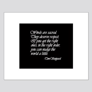 Quotes - Words are Sacred Small Poster