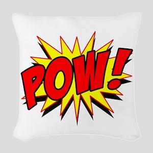 Pow! Woven Throw Pillow