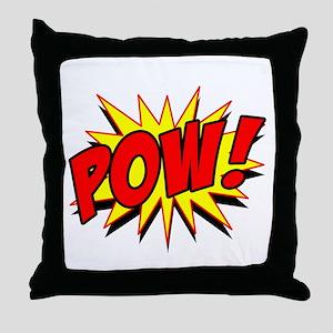 Pow! Throw Pillow