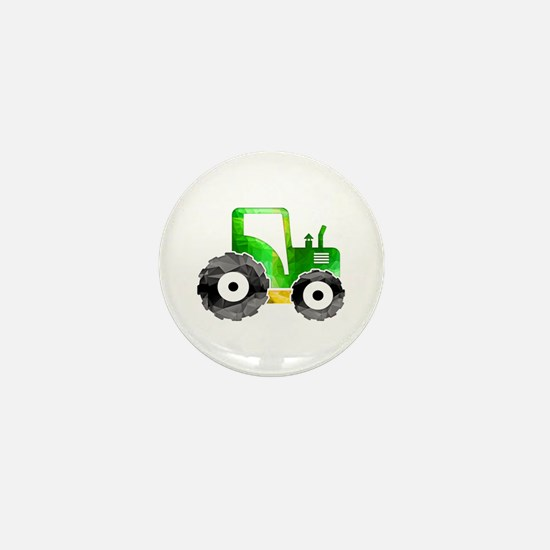 Cute Tractor Mini Button